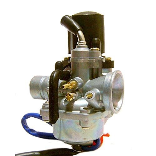Glixal ATJOG-001 19mm Carburetor with Electric Choke for Jog 50cc 72cc 90cc 2 stroke 1PE40QMB Engine Scooter Moped - Scooter Stroke 2