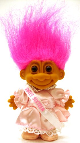 My Lucky SWEET SIXTEEN Troll Doll (Hot Pink Hair)