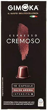 Cápsula de Café Cremoso Gimoka, Compatível Com Nespresso, Contém 10 Cápsulas