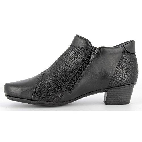 Lined Ladies Leather Heeled Warm Zip 53891 00 Black Rieker Black Boots nqYxwBZ4YP