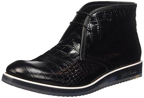 Frères Or Les Hommes Voyagent Chaussures Haute Richelieu Noir