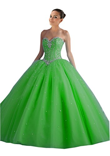 2f6845615305 Mollybridal Tulle 2019 Prom Dress Evening Formal Gowns Tulle Corset Sweet  16 Party Dress Green 18