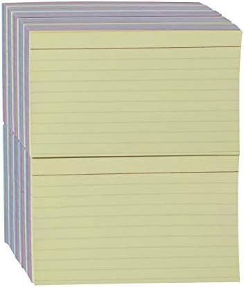 "Amazon Basics Ruled Color Index Cards, 3"" x 5"", 1,000 Cards"