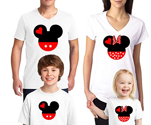 Natural Underwear Family Trip #2 Head and Ears 2019 T-Shirts Trip Mouse Kids Girls V Neck T Shirts White Kids-Girls 2T ()