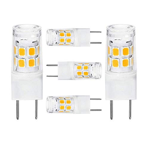 LED G8 Light Bulb 2.5 Watts Warm White G8 Base Bi-pin Xenon JCD Type LED 120V 20W Halogen Replacement Bulb for Under Counter Kitchen Lighting, Under-Cabinet Light.Pack of 5 (Warm ()