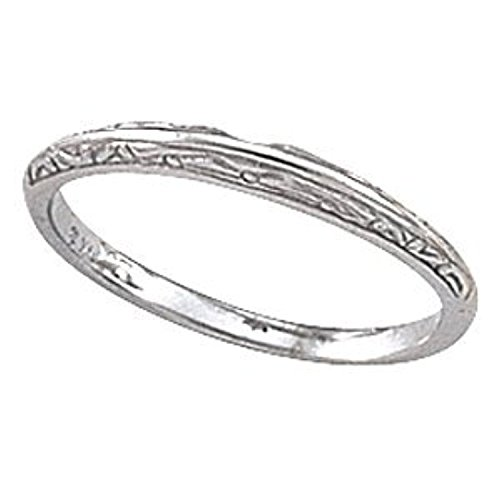 White Gold Cathedral Engagement Polished Ring Mounting & -