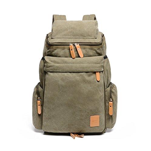 Outdoor backpack Retro outdoor canvas bags backpack bag fashion shoulder bag green