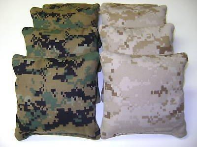 8 Cornhole Bean Bag Corn Hole Camo - Camouflage USMC by Generic