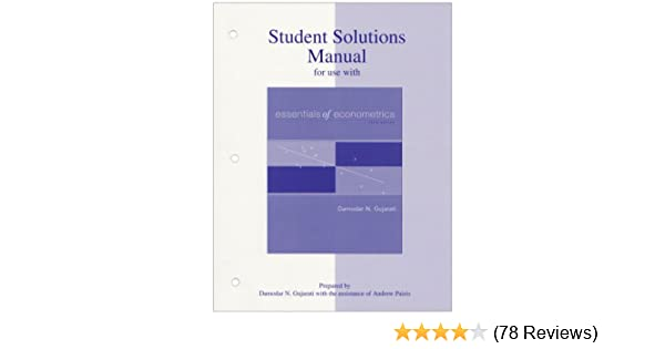 Student solutions manual to accompany essentials of econometrics student solutions manual to accompany essentials of econometrics 9780073042091 economics books amazon fandeluxe