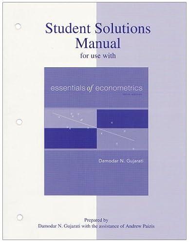 student solutions manual to accompany essentials of econometrics rh amazon com