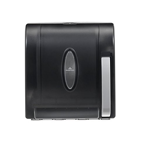 MegaDeal Georgia Pacific Roll Towel Dispenser - Hygenic Push-Paddle - Translucent Smoke