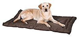 Slumber Pet Water-Resistant Beds  -  Comfortable and Durable Nylon Beds for Dogs and Cats - Large, Chocolate