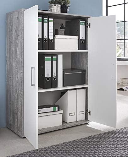 Büro-Regal für DIN-A4-Ordner Aktenregal weiss 3879