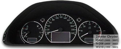 Tachodekorset Chrom fü r Benz W210 nach Facelift (1999 - 2003) Drive Zero