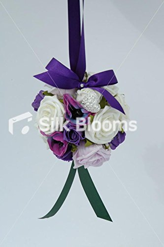 Lilac-Ivory-and-Purple-Rose-and-Anemone-Pomander-for-Flower-Girl