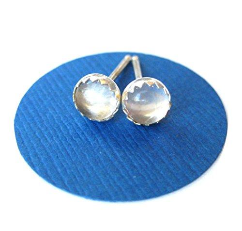 Clear Quartz Studs Rose Quartz - Earrings Clear Quartz