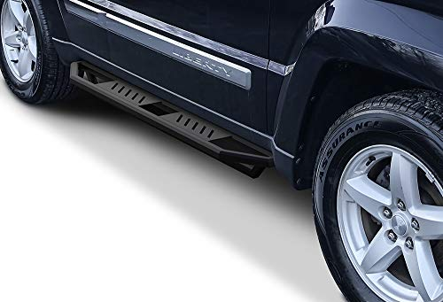 APS Jeep Off-Road Side Steps Armor Custom Fit 2008-2013 Jeep Liberty Sport Utility ()