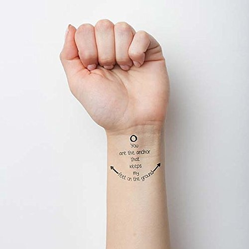 Amazoncom Tattify Hope Anchors The Soul Temporary Tattoo