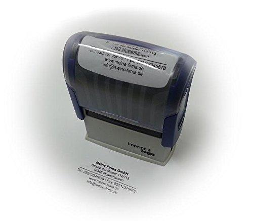 Printy 4913 inkl. Stempelplatte mit Ihrem Wunschtext