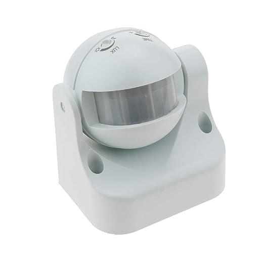 Cablematic - Detector de movimiento por infrarojos con cabezal orientable: Amazon.es: Electrónica