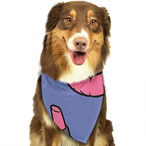 OURFASHION Cosmetics and Hipster Bandana Triangle Bibs Scarfs Accessories for Pet Cats and Puppies.Size is About 27.6x11.8 Inches -