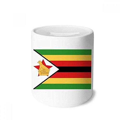 DIYthinker Zimbabwe National Flag Africa Country Money Box Saving Banks Ceramic Coin Case Kids Adults