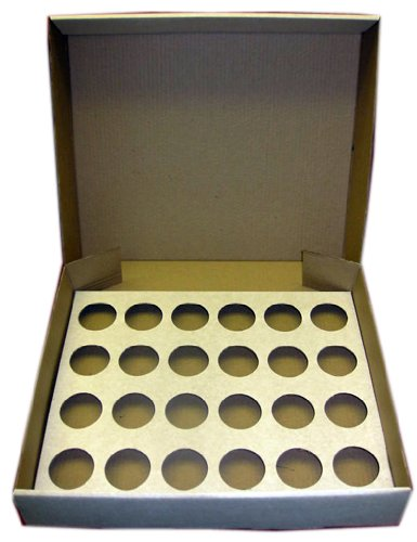 5 x Strong White 24 Cup Cake Cupcake Muffin Box & Tray AVM