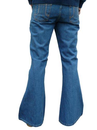 bell Herren denim bottom vintage style, retro jeans stonewashed, blau, alle Größen