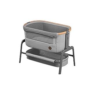 Maxi-Cosi Iora-Beistellbett mit weicher Matratze, Reisebett einfach zusammenfaltbar und höhenverstellbar, geeignet ab der Geburt, 0 Monate - 9 kg, Essential Grey (grau) 1