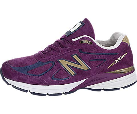 New Balance Women's Running 990V4 Sneakers, 8.5B US, Purple