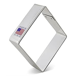 Ann Clark Diamond Cookie Cutter - 3.75 Inches - US Tin Plated Steel