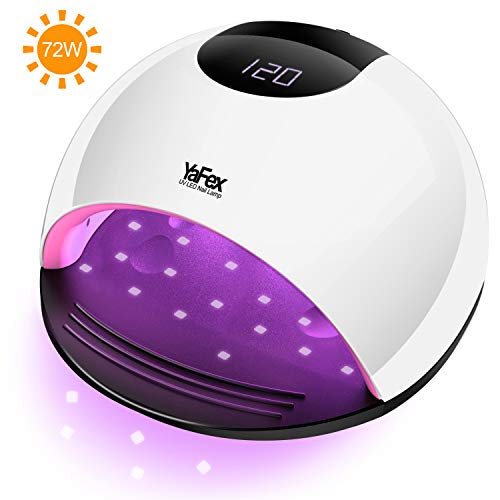 Uv Pro Gel - UV LED Nail Lamp - 72W Professional Nail Dryer for Gel Polish with 4 Timer, Sensor, Salon Quality UV Light Nail Art Tool for All Gel Nails Curing