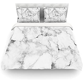 Society6 black marble duvet covers queen 88 for Black and white marble bedding