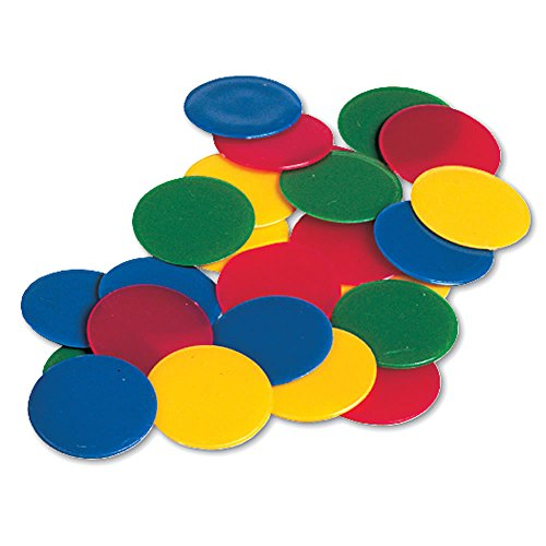 ETA hand2mind Solid Colorful Plastic Counting Chips (Set of 200) (Plastic Disk)