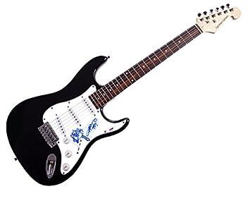 AC/DC Angus Young firmada guitarra PSA/ADN w añadido ilustraciones AFTAL: Amazon.es: Hogar