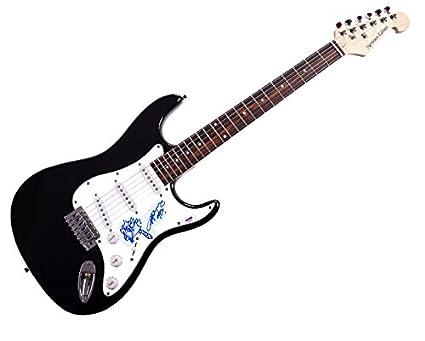 AC/DC Angus Young firmada guitarra PSA/ADN w añadido ilustraciones ...