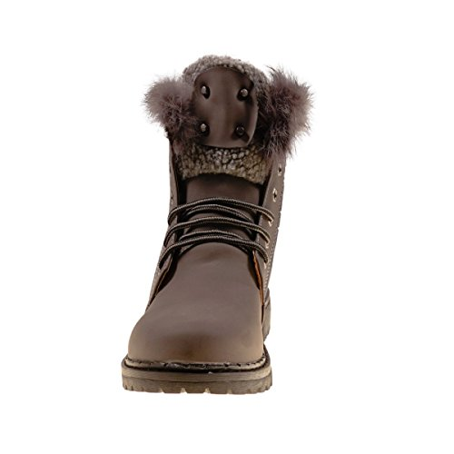 Fashion4Young Women's Boots Dark Grey ht8RS