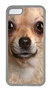 iPhone 5C Case iPhone 5C Cases Chihuahua Face TPU Rubber Soft Case Back Cover for iPhone 5C Transparent