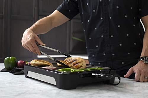 George Foreman 25850-56 Smokeless BBQ Grill, Niente Fumo per utilizzo in casa, Piastra e Vassoio Lavabili in… 7