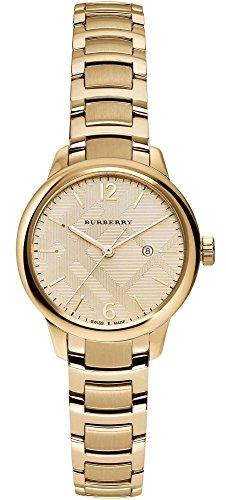Burberry Women's Swiss Gold-Tone Stainless Steel Bracelet Watch 32mm BU10109