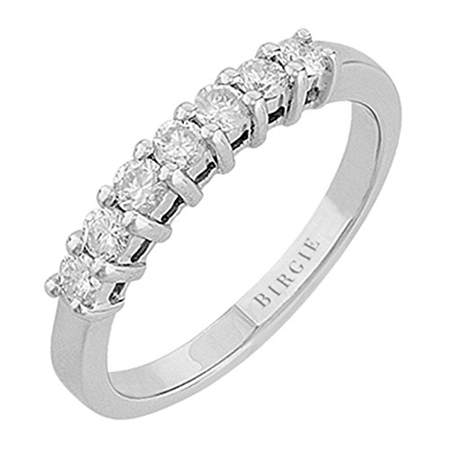 7 Stones Shared Prong Diamond Wedding Ring in 18K Gold (0.50ct. TW)