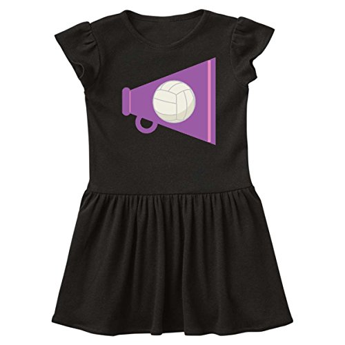 Infant Black Cheer Dress (inktastic Volleyball Cheer Megaphone Infant Dress 24 Months Black f779)