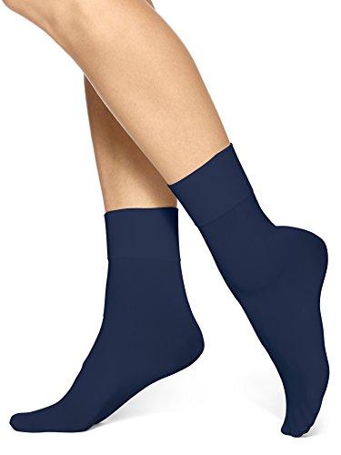 Hue Women's Simply Skinny Socks, Navy, Medium ()