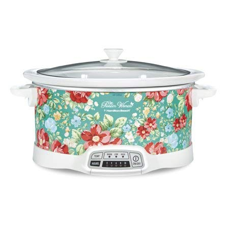 Bring Cheerful and Charming Style to Your Countertop with Beautiful and Stylish Pioneer Woman 7 Quart Programmable Slow Cooker Vintage Floral,Great Addition to Your Kitchen ()