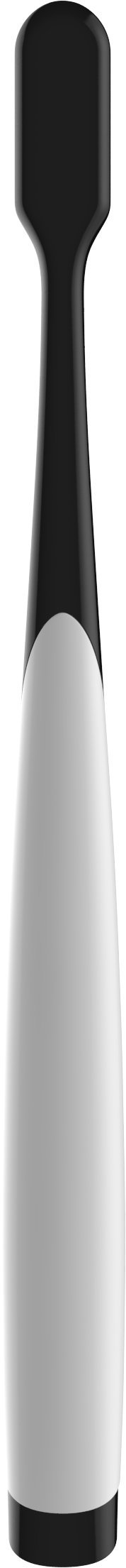 5 Pack Charcoal Toothbrush [GENTLE SOFT] Slim Teeth Head Whitening Brush for Adults & Children [FAMILY PACK] - Ultra Soft Medium Tip Bristles (WHITE)
