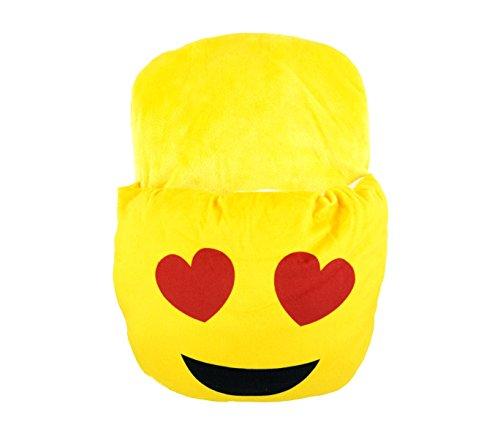 MEDIA WAVE store Ciabattona Cuscino 395264 SCALDAPIEDI Emoticon Calda e Morbida Idea Regalo (Cuori)