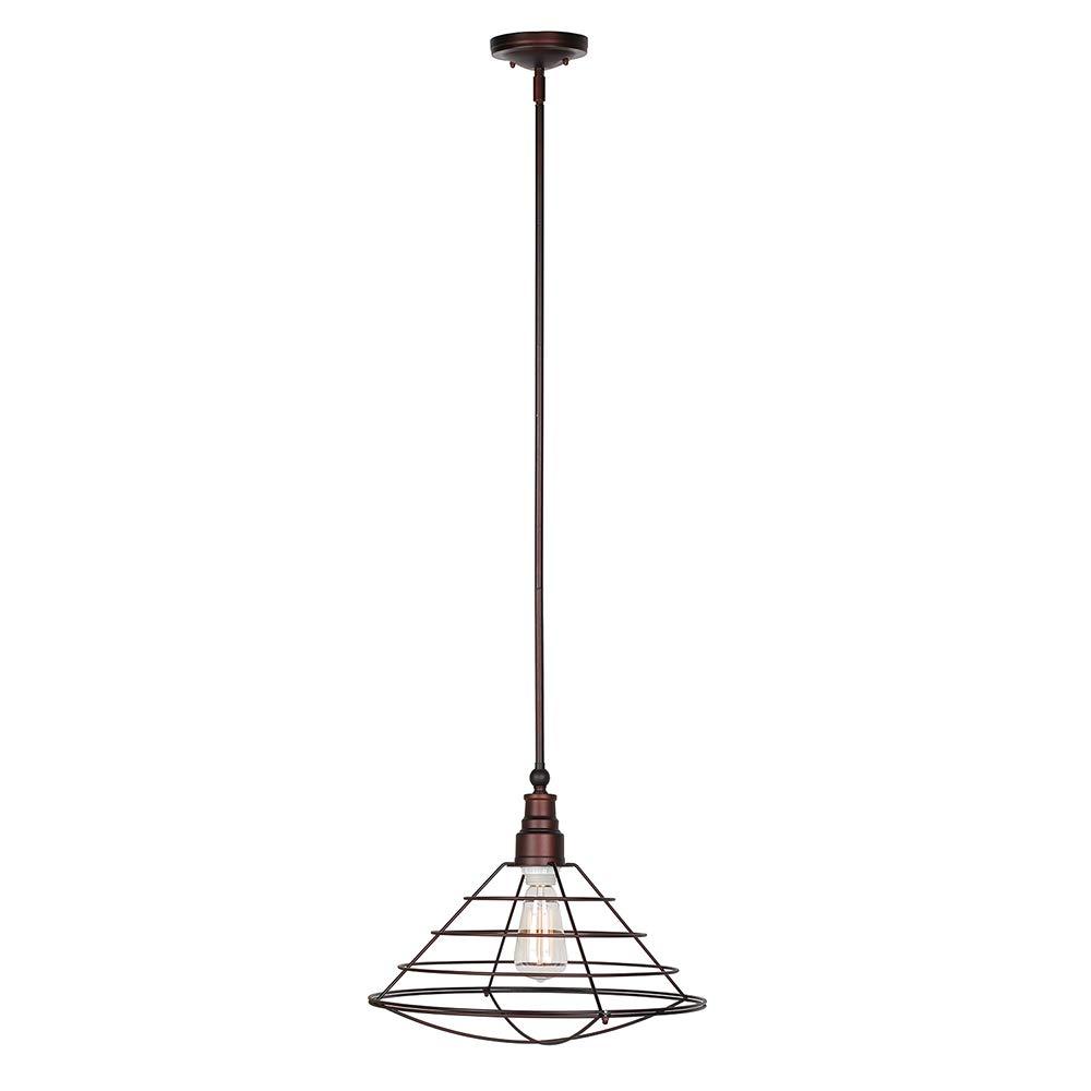 Design House 519678 Ajax 1 Light Pendant, Galvanized Steel Finish