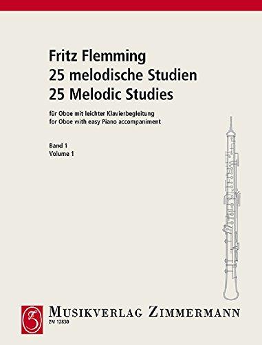 25 melodische Studien: Heft 1. Oboe und Klavier. Musiknoten – April 2000 Fritz Flemming B00006M0HG Musikalien Klassik