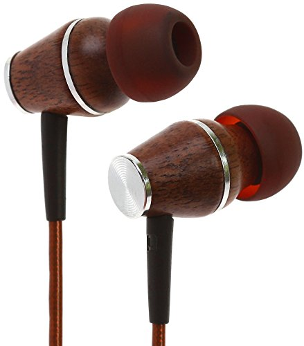 Symphonized XTC 2.0 Earbuds with Mic | Premium Genuine Wood Stereo Earphones | Hand-made In-ear Noise-isolating Headphones with Tangle-free Innovative Shield Technology Cable – Bronze