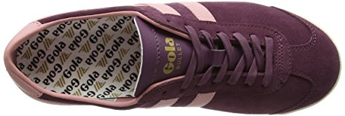 Gola Womens Bullet Suede Fashion Sneaker Vino Windsor / Corallo